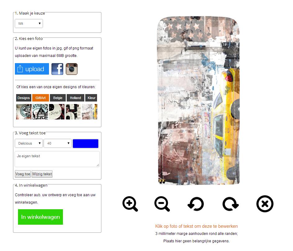 Samsung Galaxy S6 flipcase hoesje ontwerpen