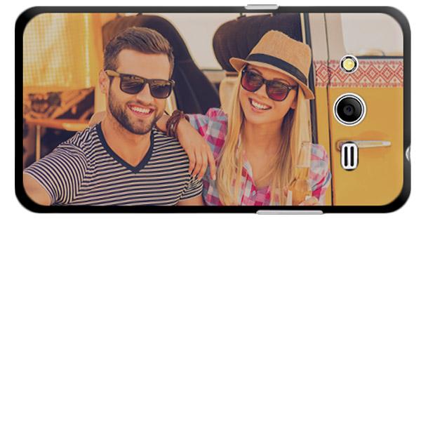 Samsung Galaxy Core 2 Hardcase hoesje met foto zwart Wit of Transparant