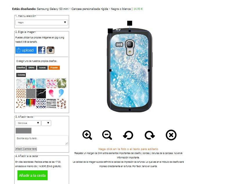 Samsung Galaxy S3 mini Hardcase hoesje ontwerpen