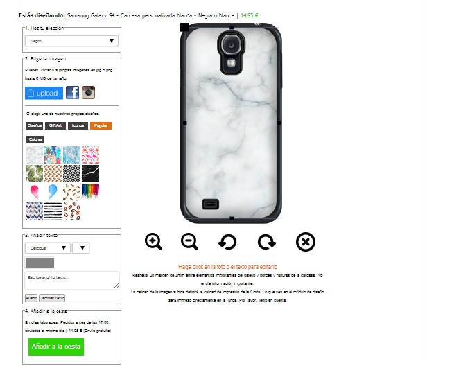 Samsung Galaxy S4 Softcase hoesje maken