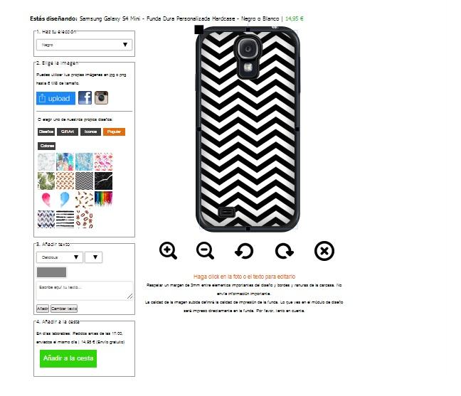 Samsung Galaxy S4 mini Hardcase hoesje maken zwart of wit