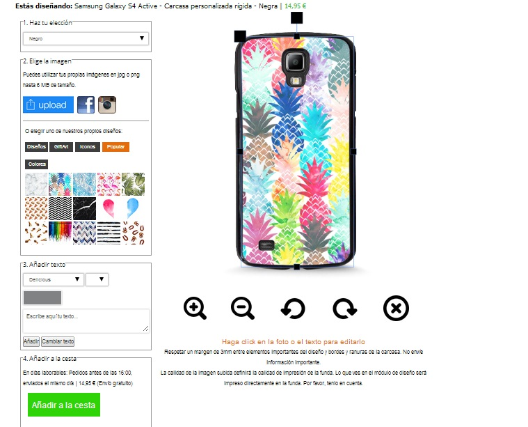 Samsung Galaxy S4 Active hardcase hoesje met eigen ontwerp wit