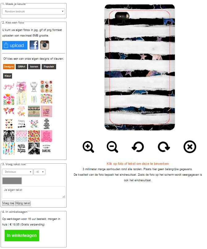 Huawei Ascend P8 Lite Hardcase hoesje ontwerpen rondom bedrukt