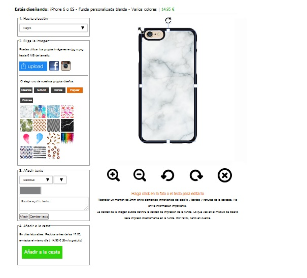 iPhone 6(S) softcase maken