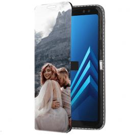 Samsung Galaxy A8 2018 - Coque Portefeuille Personnalisée (Sur L'avant)