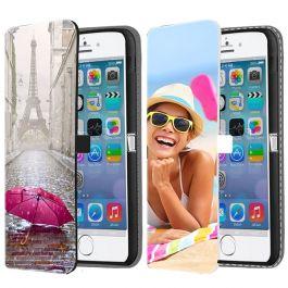 iPhone 5, 5S & SE(2016) - Coque Portefeuille Personnalisée (Sur L'avant)
