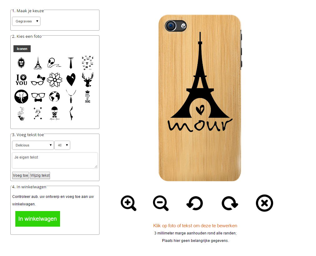 coque en bois personnalisablee iPhone 6S
