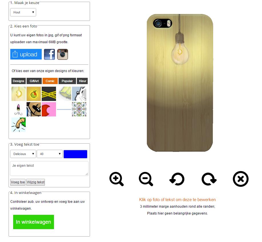 iPhone 6S wooden case ontwerpen