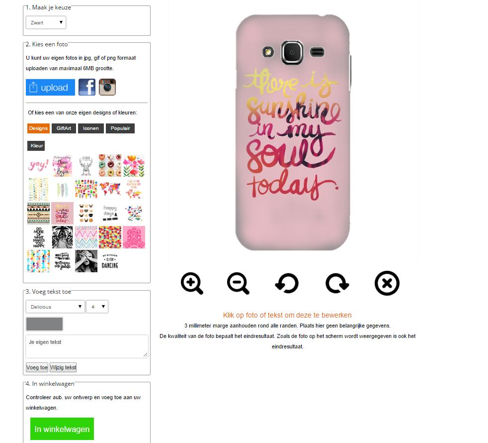 Coque personnalisable Samsung Galaxy Core Prime avec photo sur un étui blanc ou noir