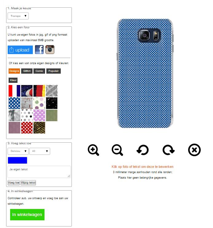 coque personnalisée Samsung Galaxy S6 Edge Plus noire, banche, transparente