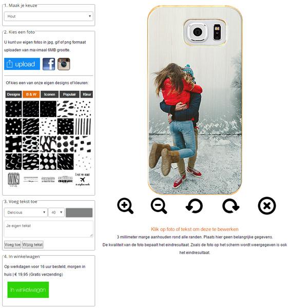 Galaxy S7 wooden case ontwerpen