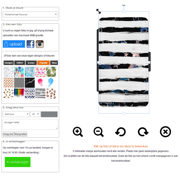 Samsung Galaxy Note 5 walletcase maken
