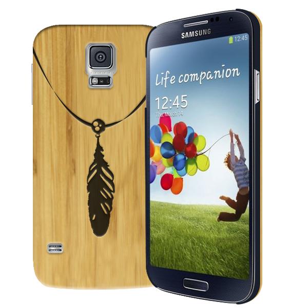 coque personnalisée Samsung Galaxy S5, coque en bois gravée