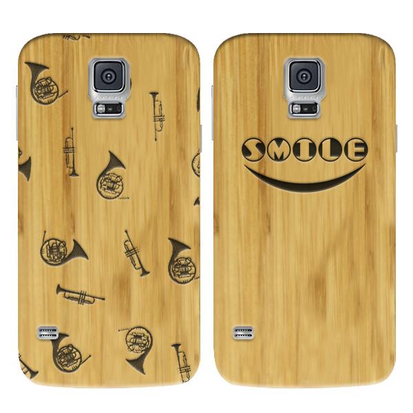 coque en bois gravée dans le bambou Samsung S5