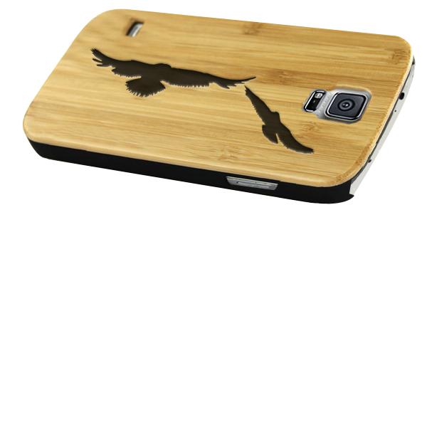 coque en bois Samsung S5 gravée