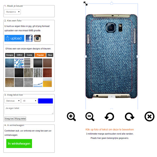 Samsung Galaxy S6 Edge hoesje ontwerpen