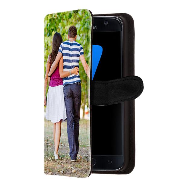 coque personnalisée Galaxy S7, coque portefeuille