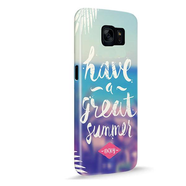 Coque personnalisée renforcée Galaxy S7 sublimation 3D impression sur les côtés