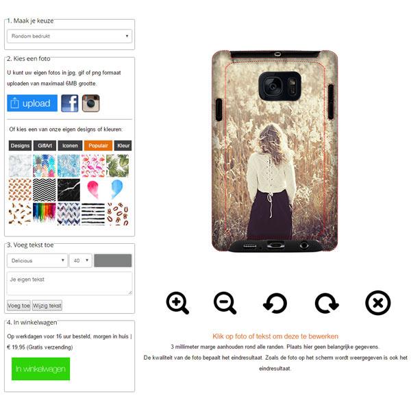 Samsung Galaxy S7 hoesje ontwerpen
