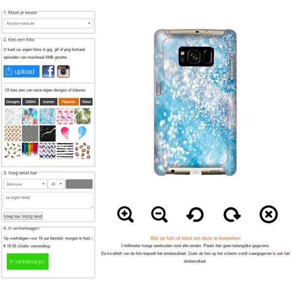 Samsung Galaxy S8 Hardcase hoesje maken