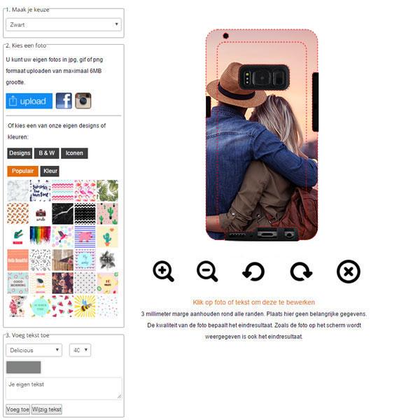 Samsung Galaxy S8 plus hoesje ontwerpen