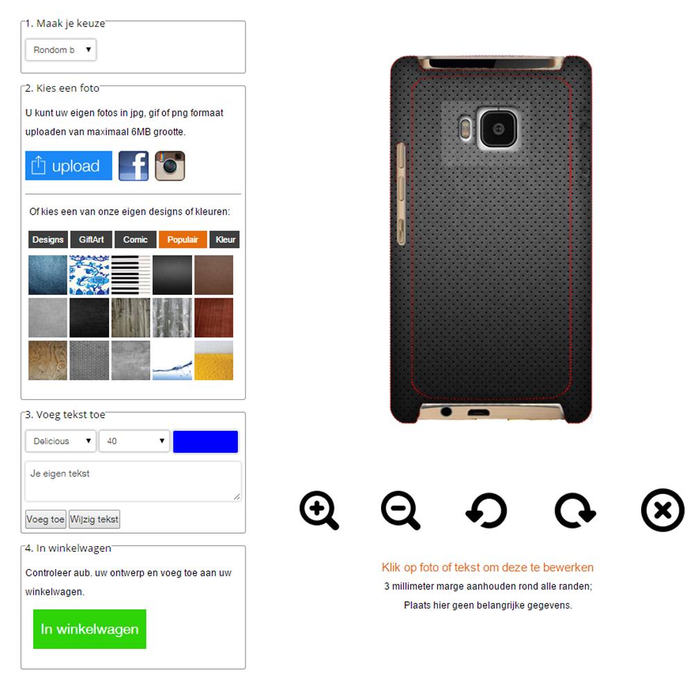 HTC One M8 Hardcase hoesje ontwerpen rondom bedrukt