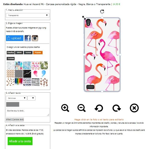 Coque personnalisée Huawei Ascend P6 rigide noire blanche ou transparente