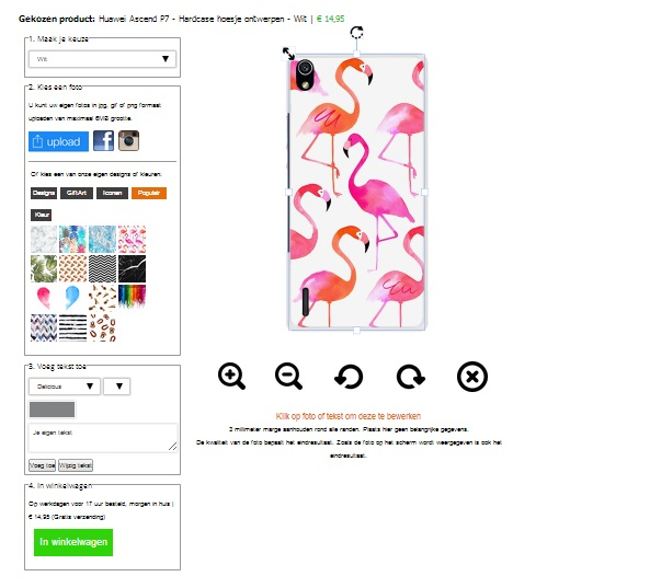 Coque personnalisée Huawei Ascend P7 rigide -  blanche