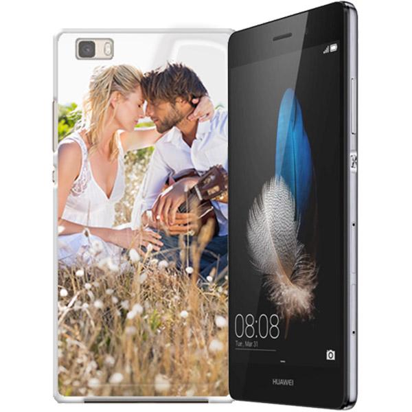 Huawei Ascend P8 Hardcase hoesje maken Zwart Wit of Trasparant