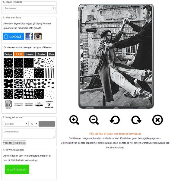 ipad pro softcase ontwerpen met foto