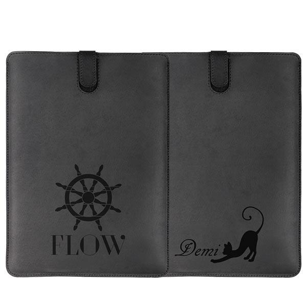 Ontwerp een leren hoesje voor de iPad Air in het zwart of bruin