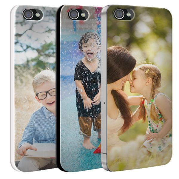 Coque personnalisée iPhone 4 et 4s rigide noire, blanche, transparente