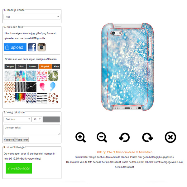iPhone 5c hardcase hoesje ontwerpen