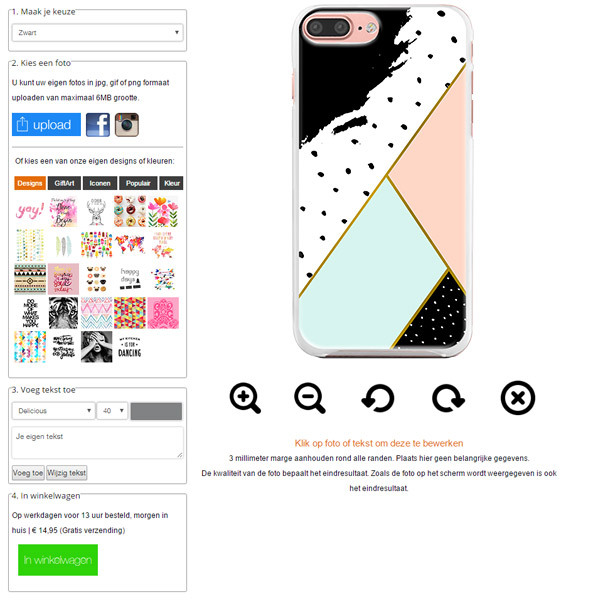 iPhone 7 plus softcase maken