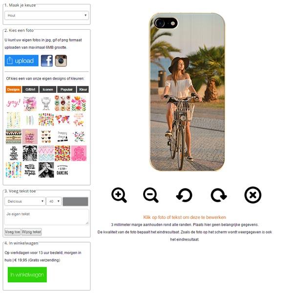 iPhone 7 wooden case ontwerpen