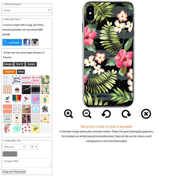 iPhone 8 softcase maken