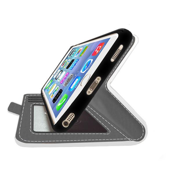 coque personnalisée iPhone 5, 5S ou SE, coque portefeuille