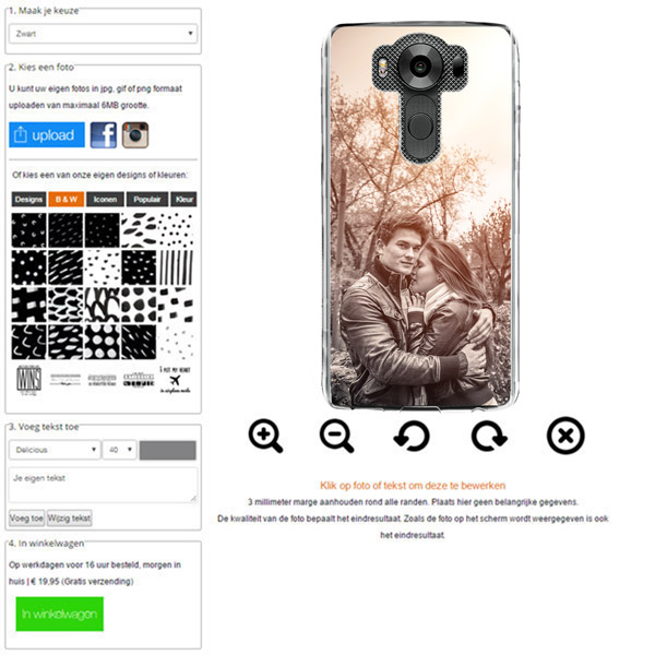 LG V10 hoesje met foto