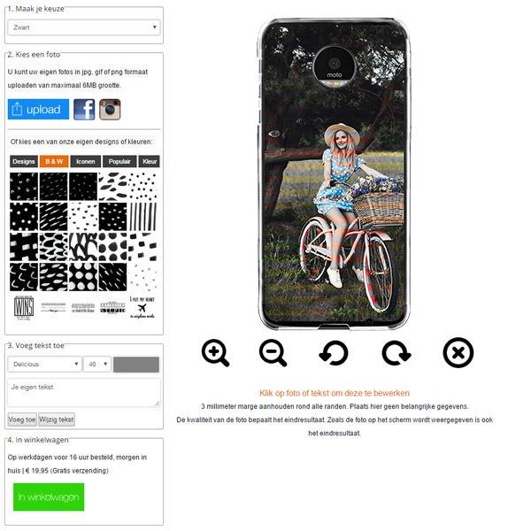 Motorola Moto Z Force hoesje met foto