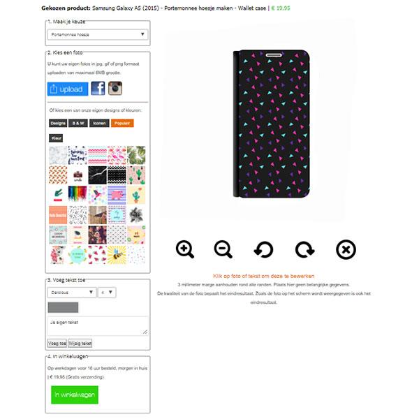 Galaxy A5 hoesje ontwerpen