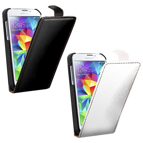 coque personnalisée Galaxy S5 à rabat Samsung avec photo et texte