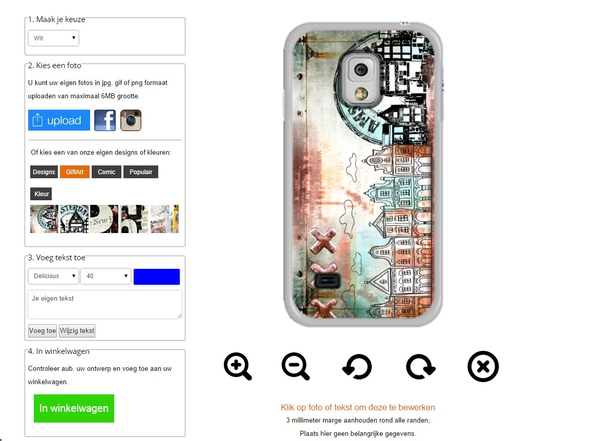 Samsung Galaxy S5 Mini Hardcase gsm hoesje ontwerpen