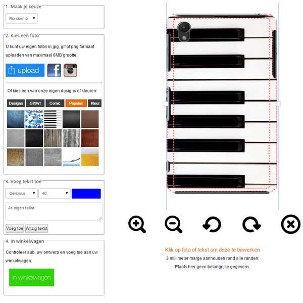 Z3 hardcase hoesje ontwerpen