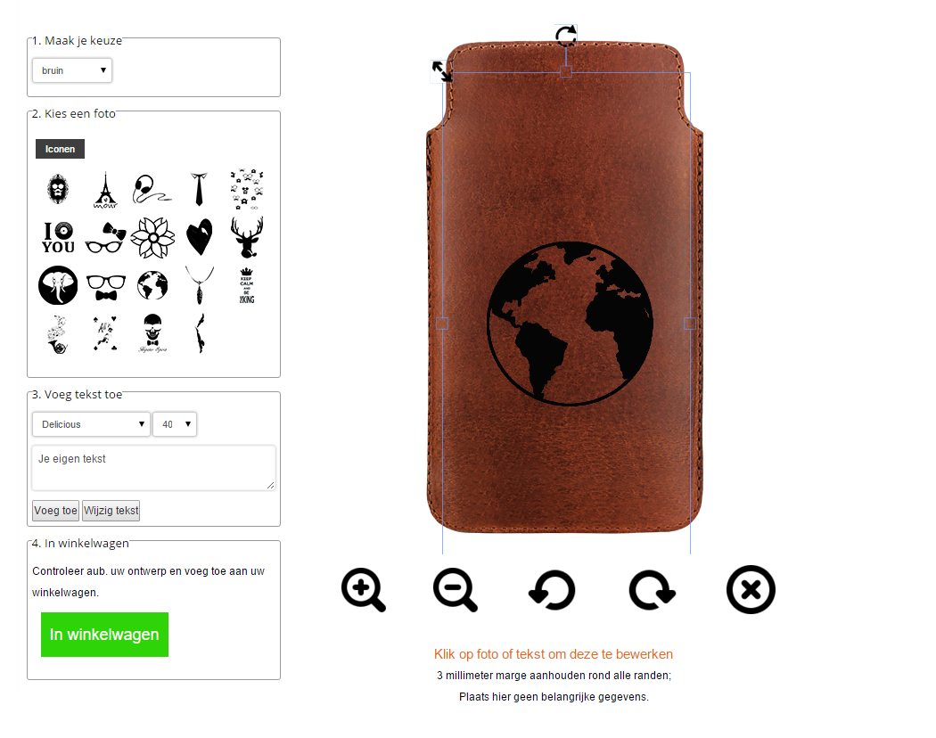 étui personnalisé en cuir, housse smartphone cuir