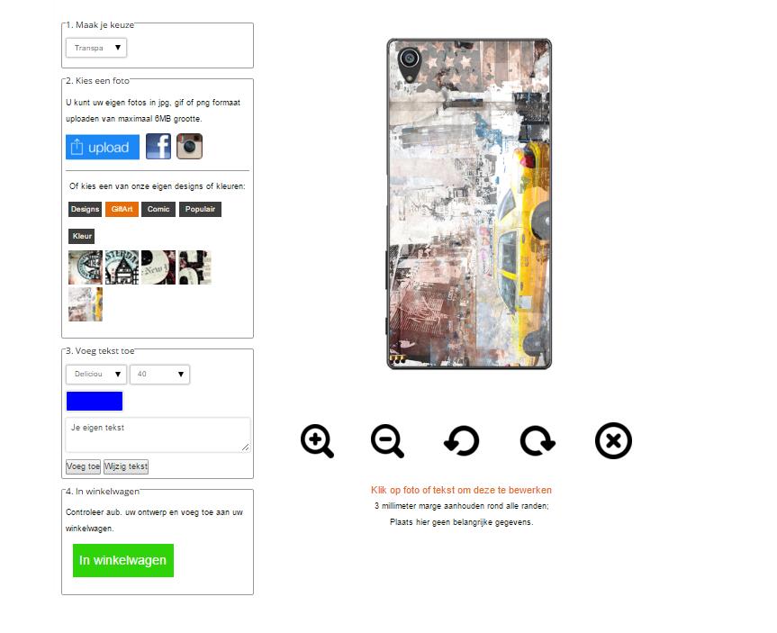 Sony Xperia Z5 hoesje met foto